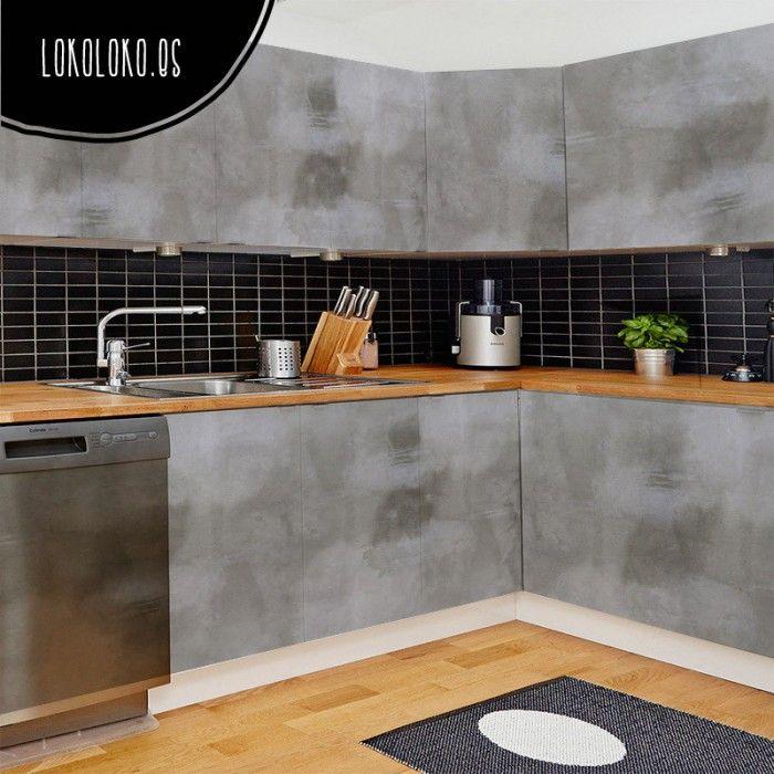 Hormigón Gris Oscuro | Muebles de cocina, Gris y Oscuro