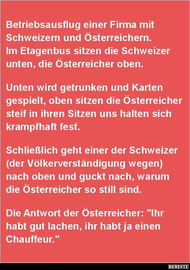 Betriebsausflug einer Firma mit Schweizern und ...