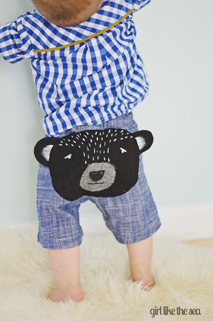 Bear Butt Baby Shorts DIY   Pinterest   Kleine menschen, Buben und ...