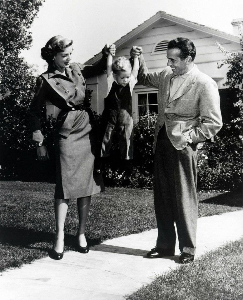 Humphrey Bogart y Lauren Bacall, otra pareja de ensueño... (con Stephen)