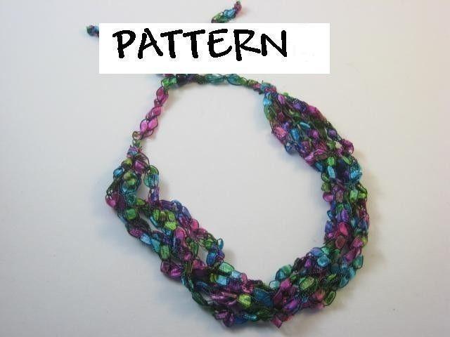 Trellis Ladder Yarn Crochet Necklace PATTERN | Pulseras y Collares