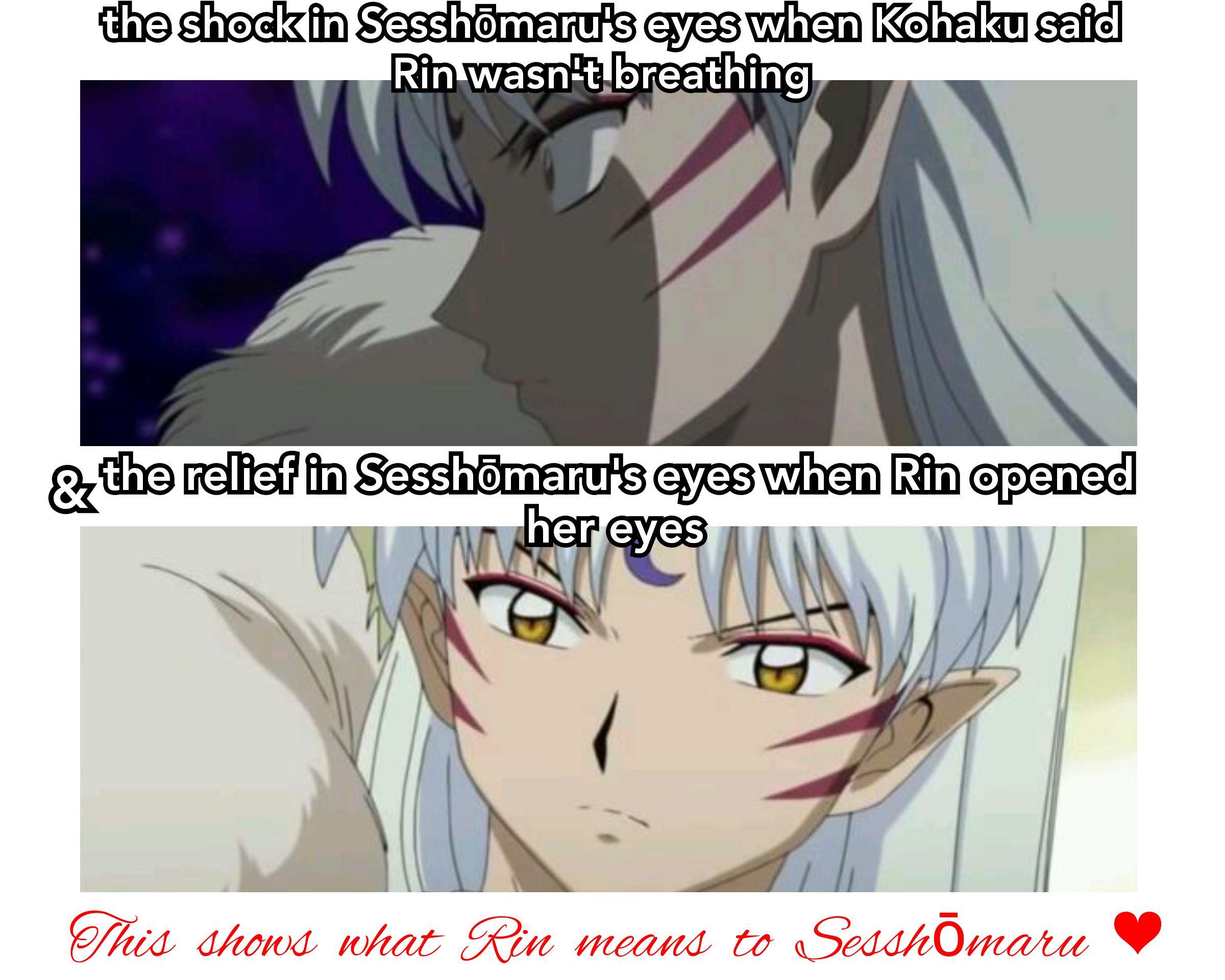 thefinalact episode09 SesshōmarRin Sesshomaru, Kohaku