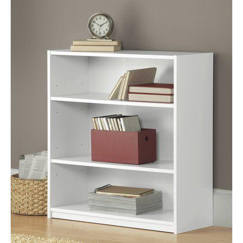 Home 3 Shelf Bookcase White Bookshelves Bookcase