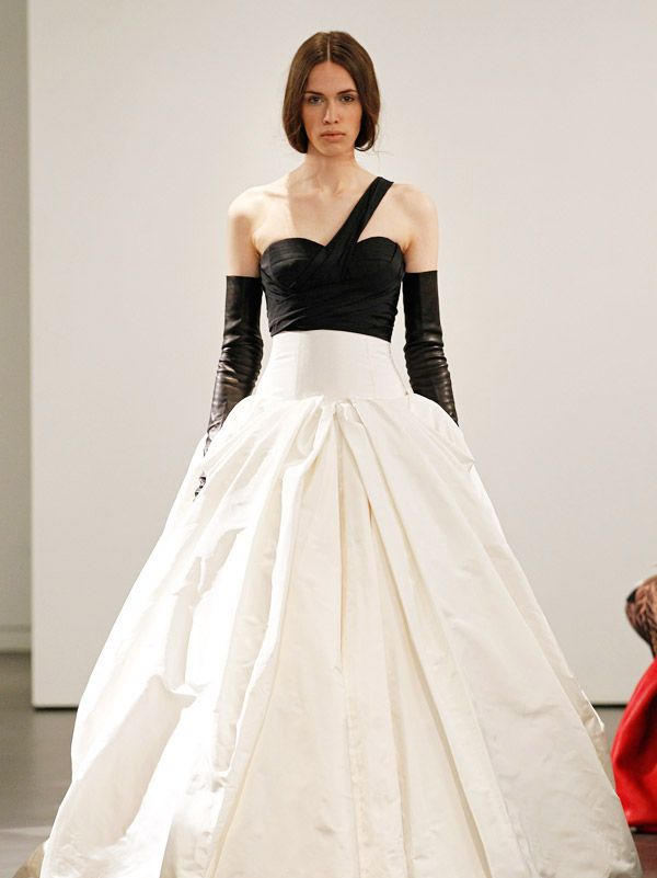 2014 wedding gowns | Black/White-Vera Wang 2014 Wedding Dresses Collection