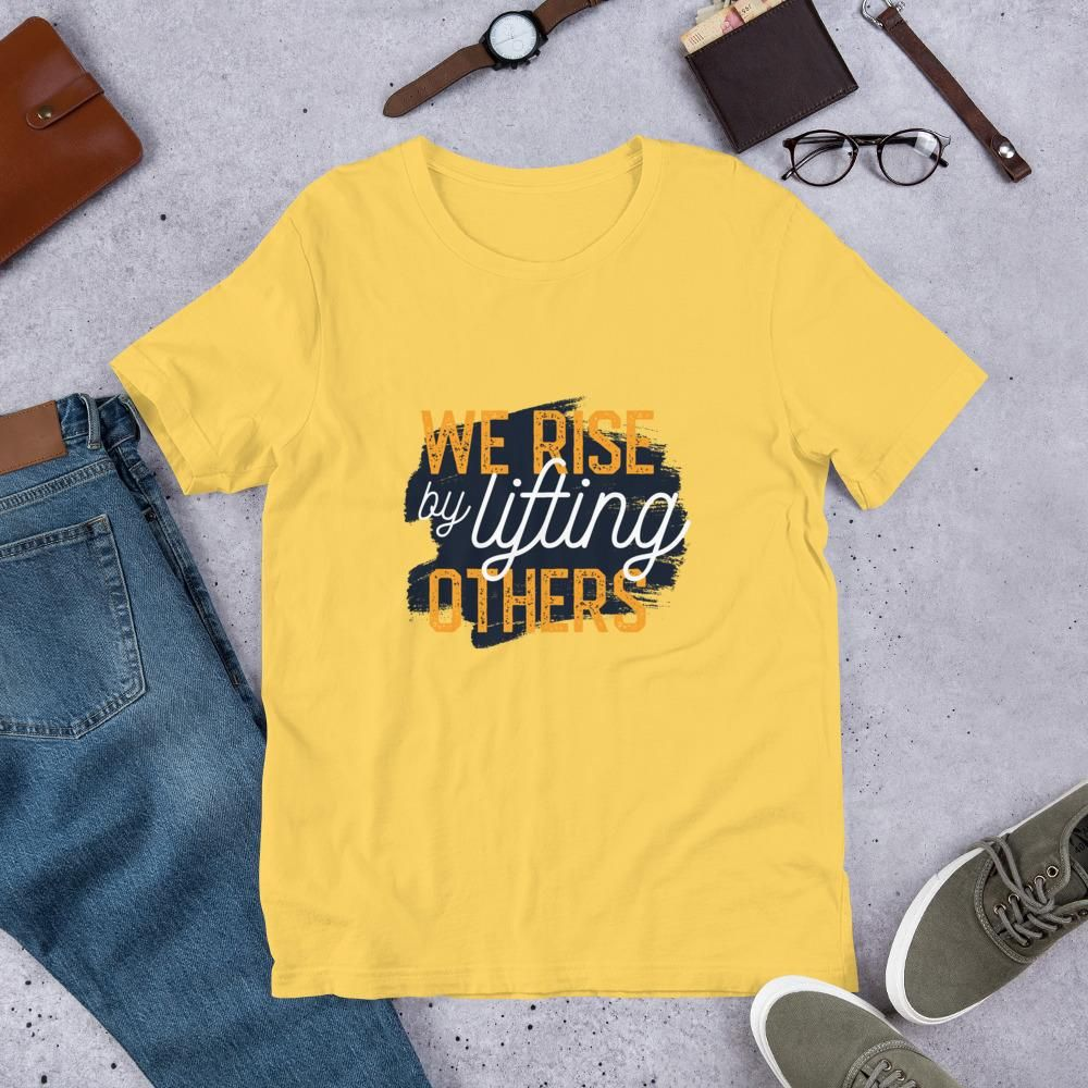 Lifting Others - Short-Sleeve Unisex T-Shirt - Yellow / S