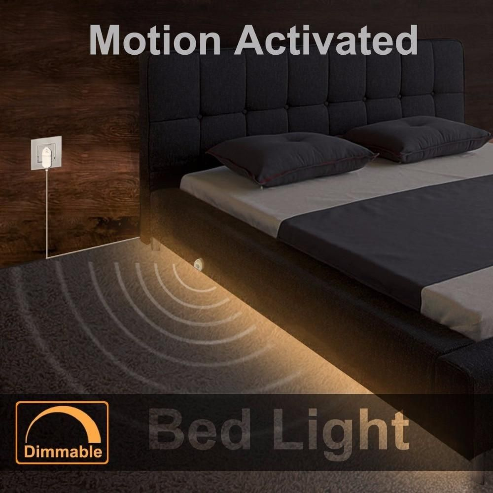 Dimmable Bed Light With Motion Sensor And Power Adapter Under