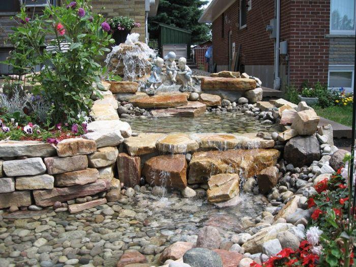 wasserfall im garten vorgarten ideen teich Extérieur(idées,déco - wasserfall selber bauen