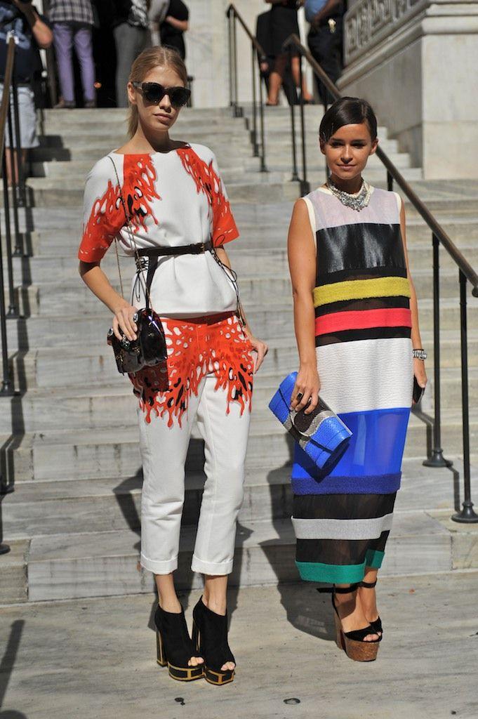 New York Fashion Week - lindo vestido a rayas