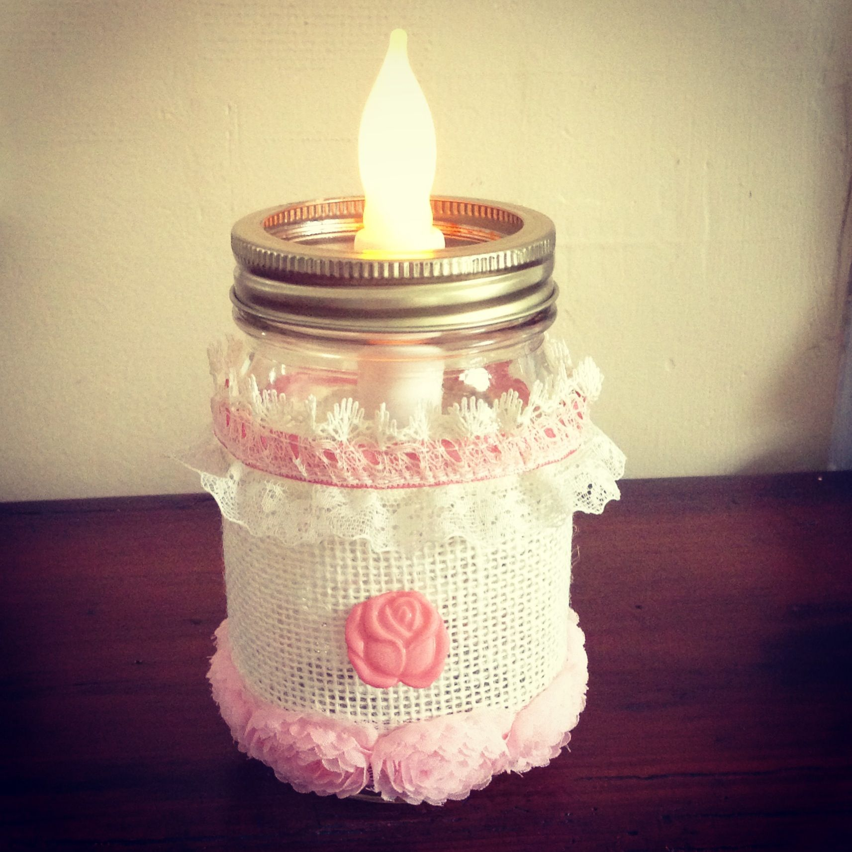 Mason jar centerpiece for birthday or baby