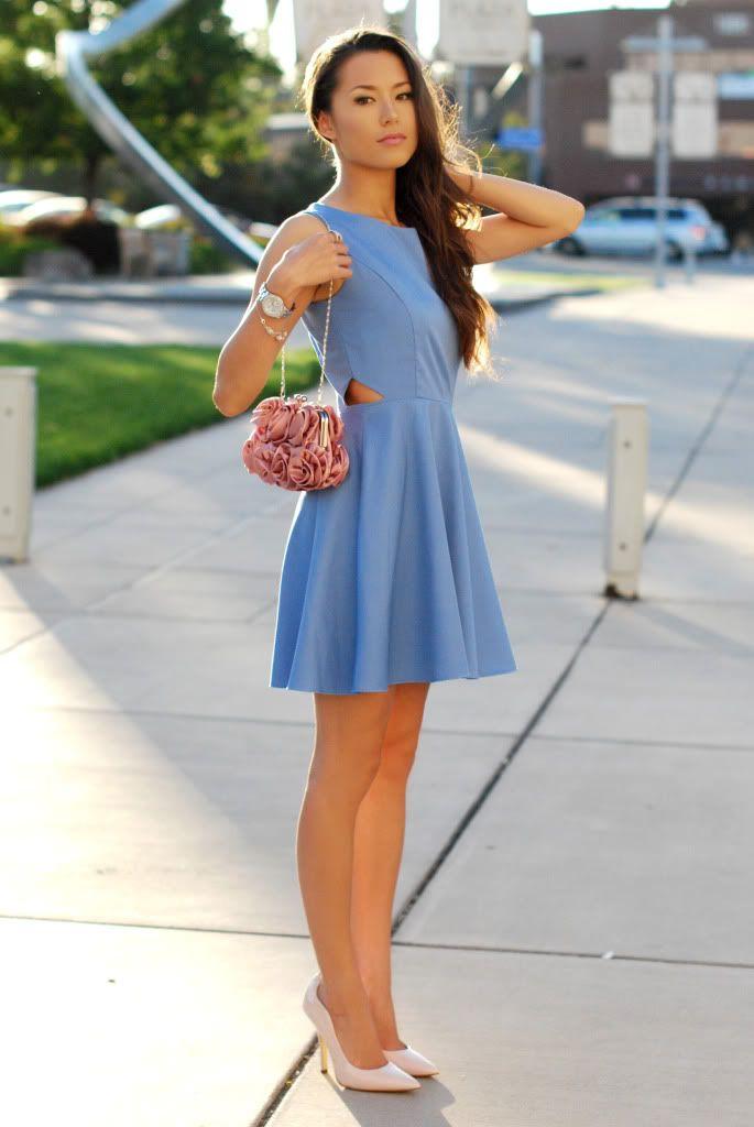 Schuhe blaues kleid Modepol :