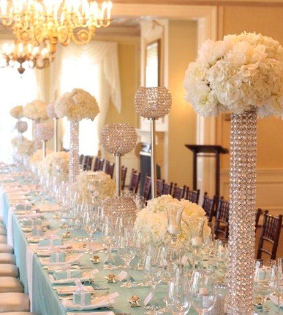 Bridal shower Tiffany blue inspired wedding table setting at Graydon Hall by Rachel Clingen & Gorgeous Wedding Reception Decorations - http://www.ikuzowedding.com ...