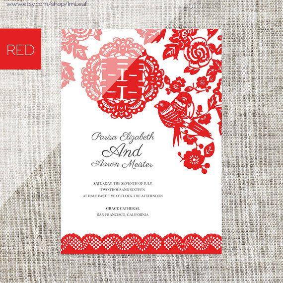 Diy Printable Editable Chinese Wedding Invitation Rsvp Card Template