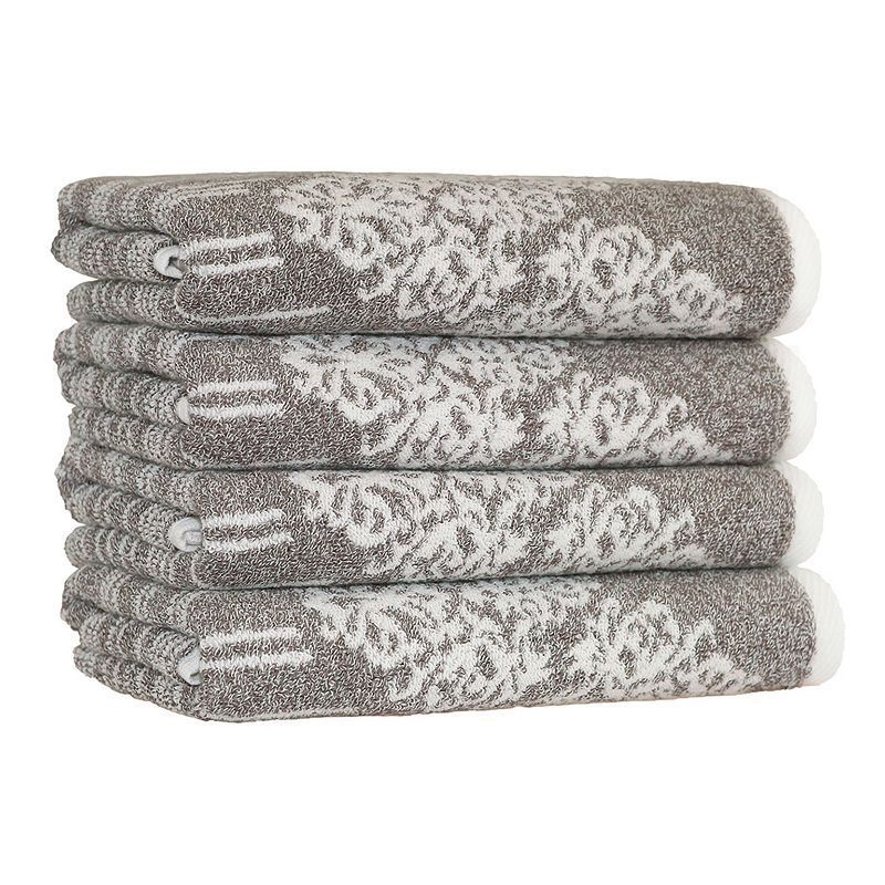 Linum Home Textiles Gioia 4-pack Hand Towels, Brown
