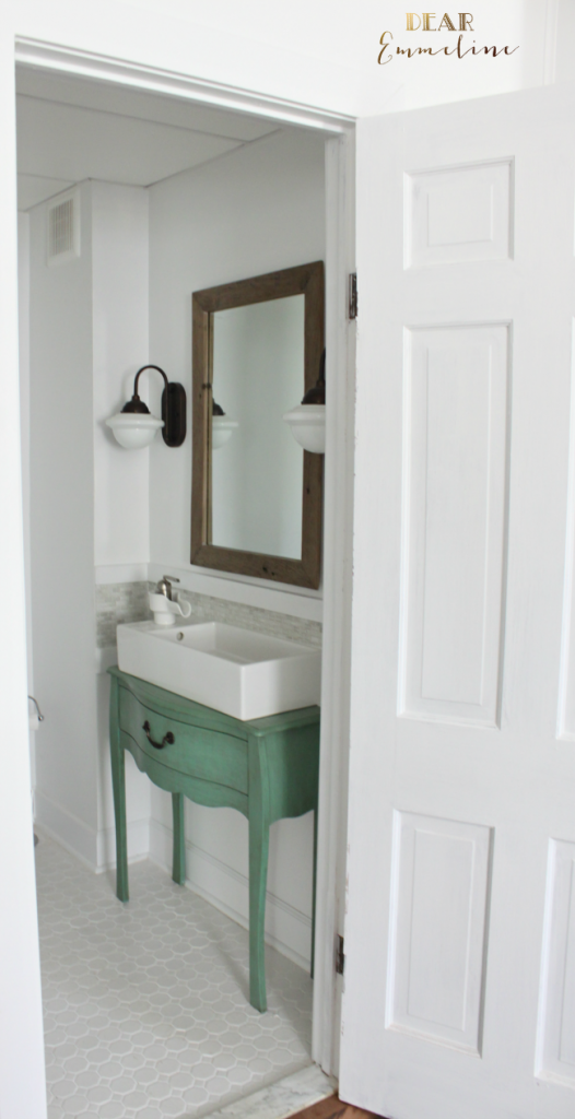 Before After Jessica S Gorgeous Narrow Half Bathroom Small Half Baths Small Bathroom Bathroom Renovations