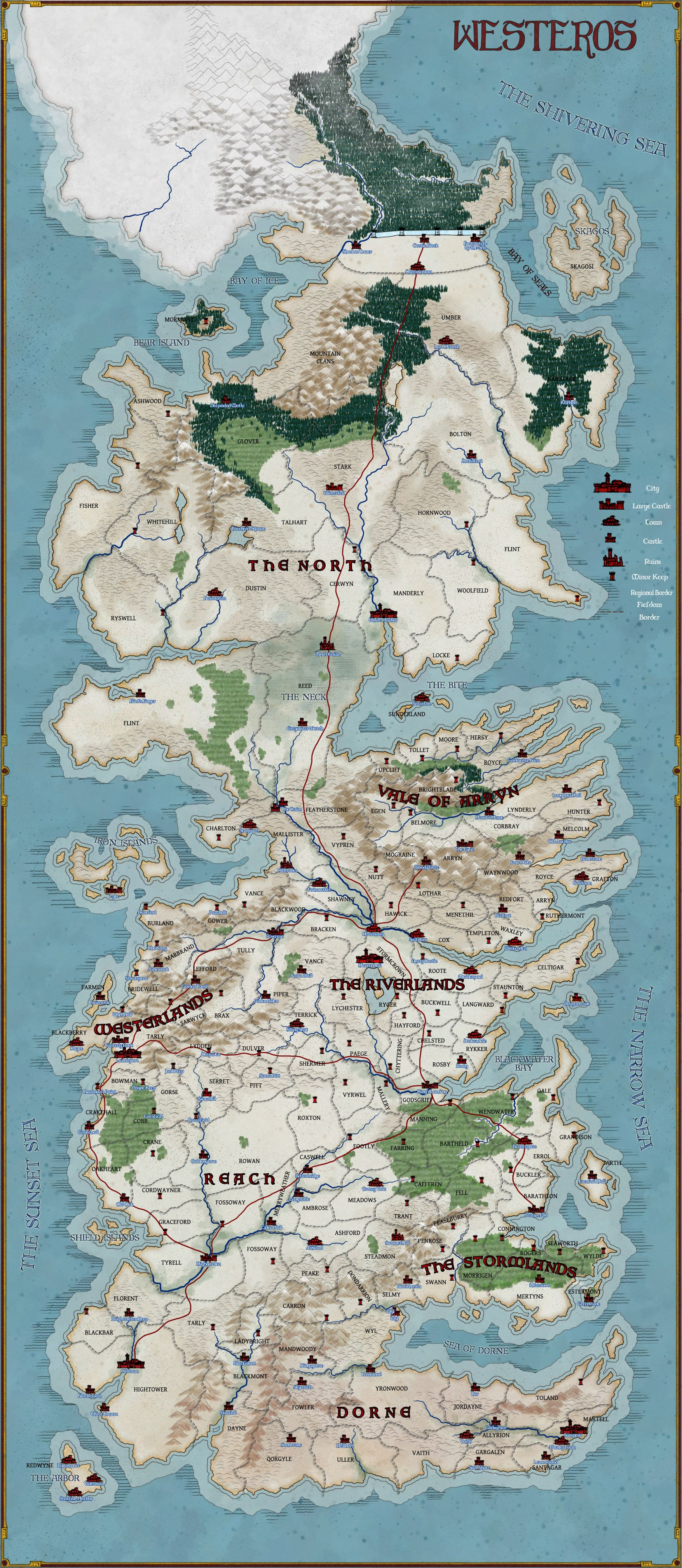 Map of Westeros -- Commission by stratomunchkin on DeviantArt
