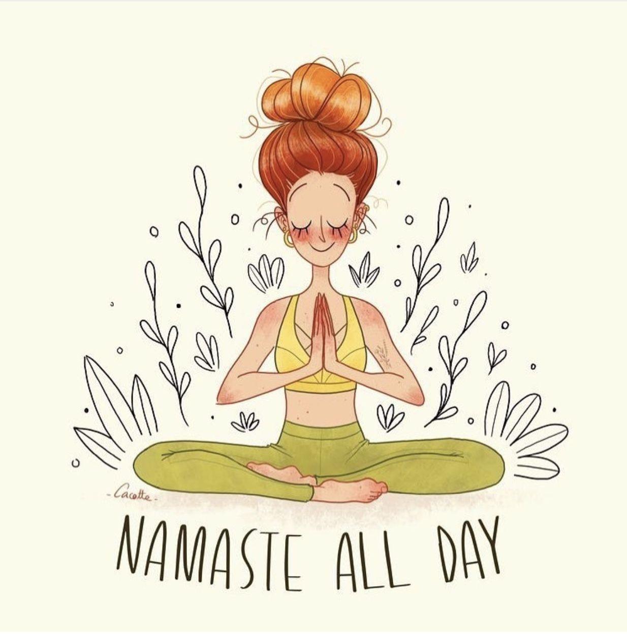 Get Your Zen On Yoga Cartoon Yoga Illustration Yoga Art