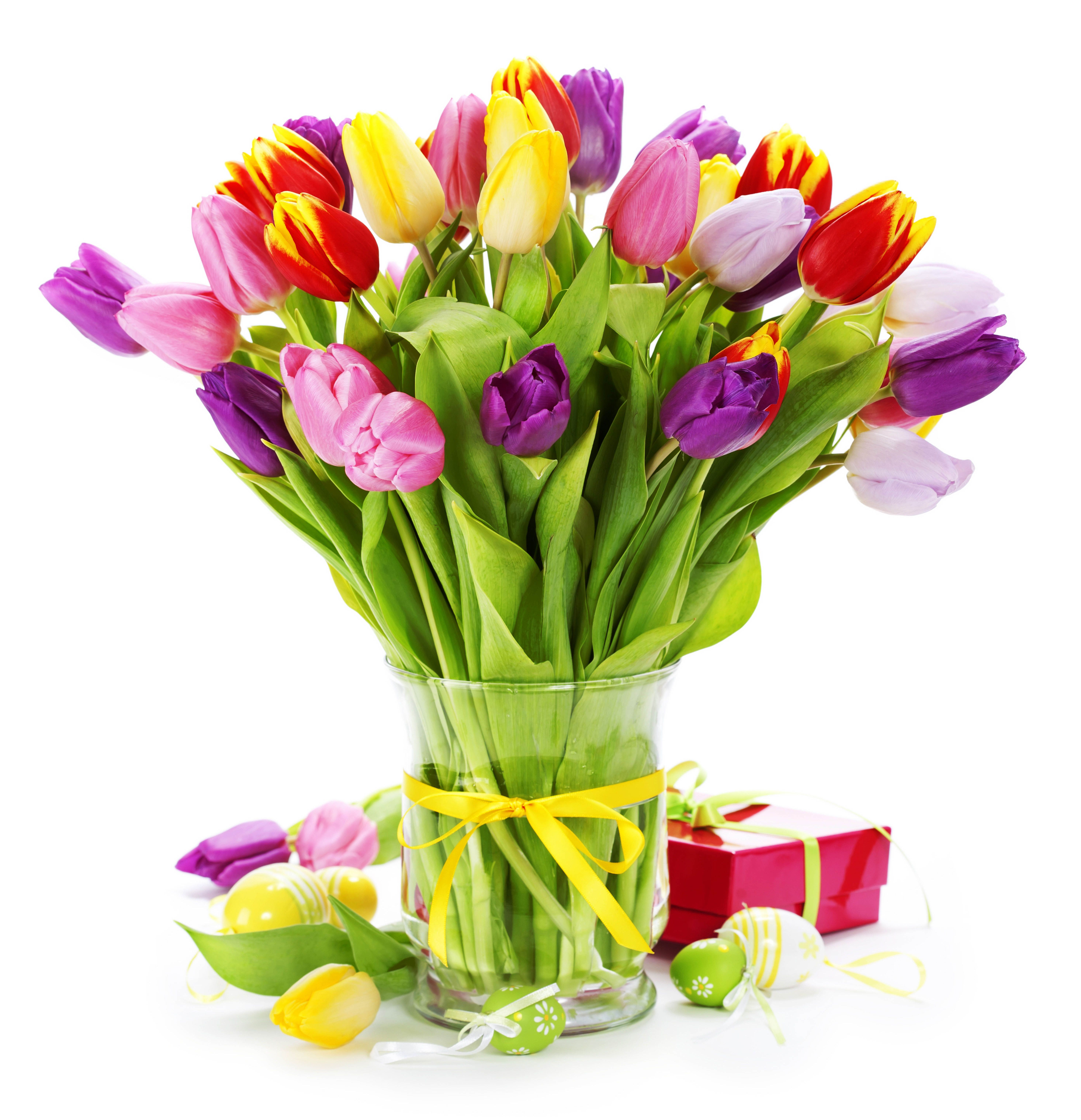 Red Vases, Tulips, Gift Bouquet, Flower, Floral Arrangements, Tulips Flowers,