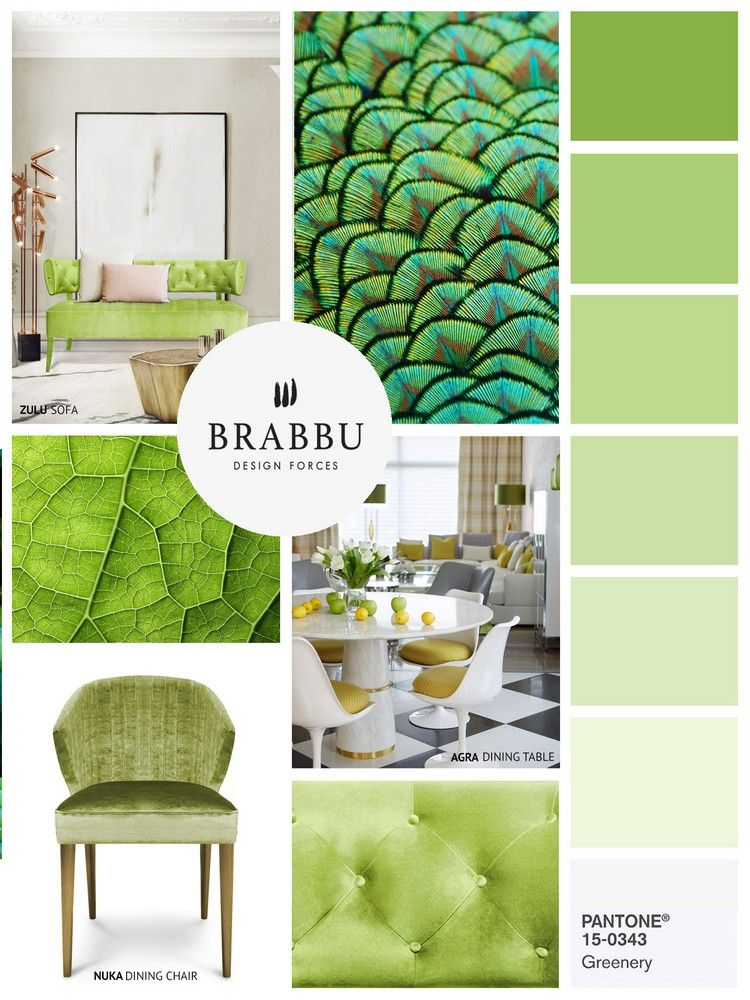 With Greenery Pantone Color Of The Year 2017 Dining Room