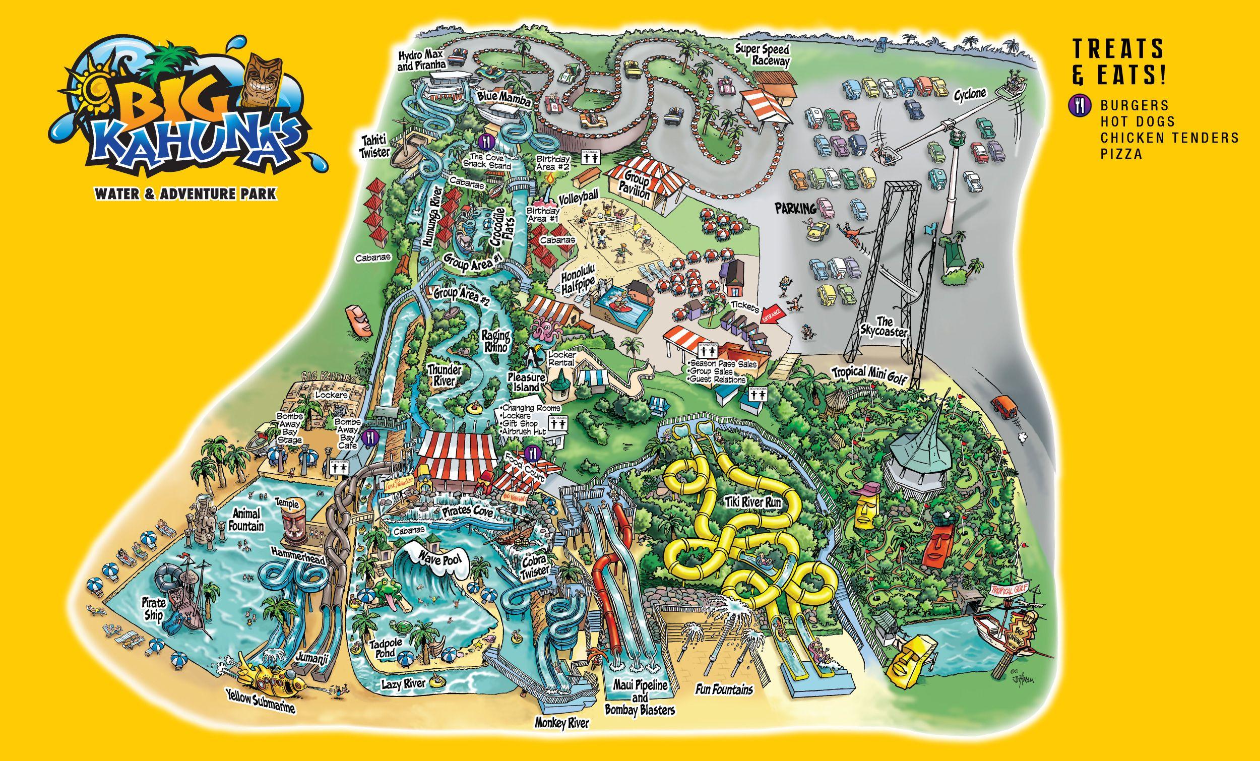 Map Destin Florida.Park Map Big Kahuna S Travel Tourist Map Map Park