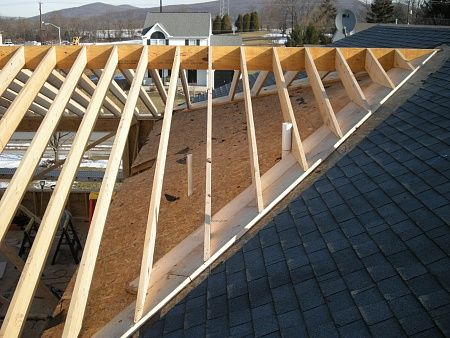 Tying A Patio Roof Into Existing House Roof Framing 002 Jpg House Roof Patio Roof House Exterior