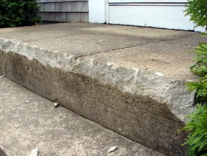 How To Fix Up An Entrance Repairing Concrete Steps Concrete Steps Concrete Walkway