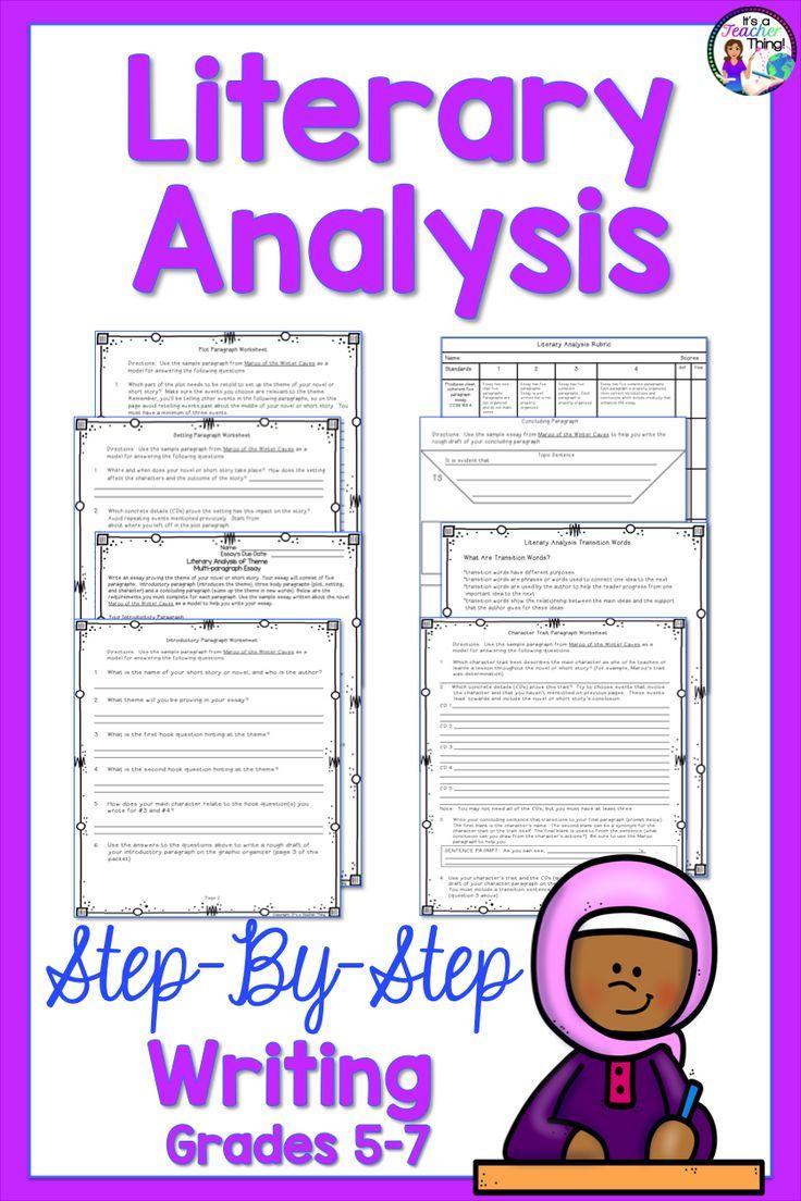 Teaching literary analysis essay writing can be