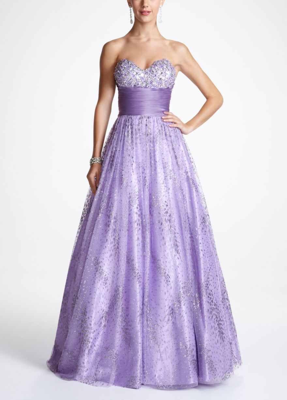 Lavender strapless dress with shimmer dresses pinterest