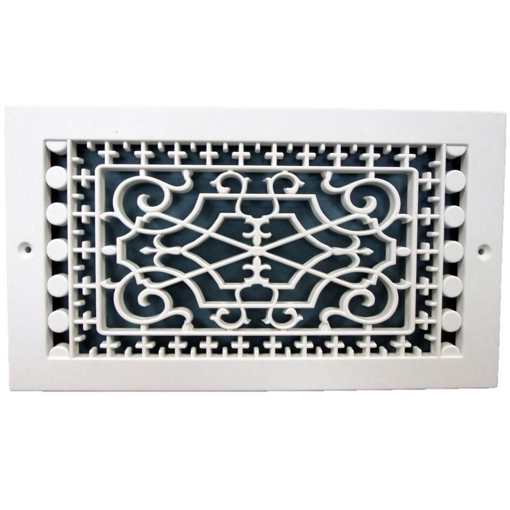 Smi Ventilation Products Victorian Base Board 10 In X 6 In 7 3 4 In X 11 3 4 In Overall Size Polymer Decorative Return Air Grille White Vbb610 Air Return Polymer Resin Cold Air Return