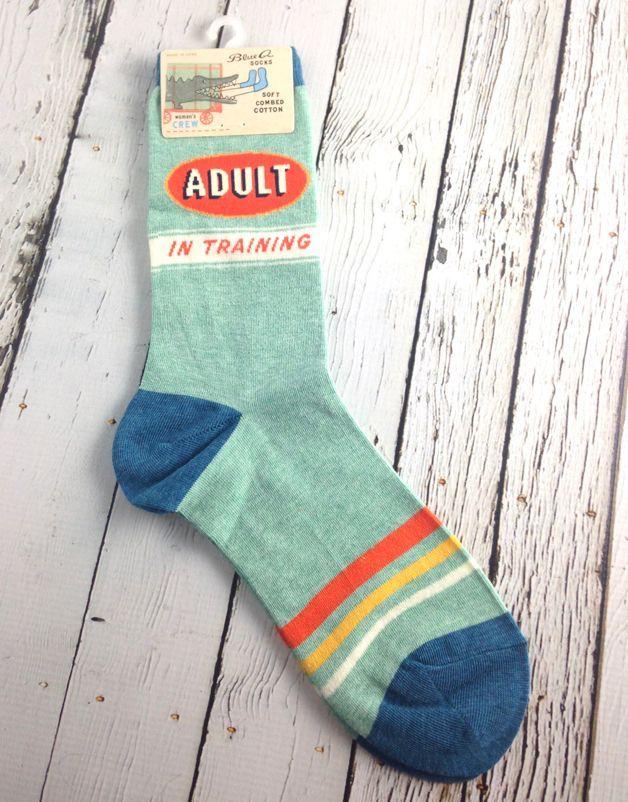 9383bf04c1a4 Adult In Training Women's Crew Socks | My Style | Crew socks, Socks ...