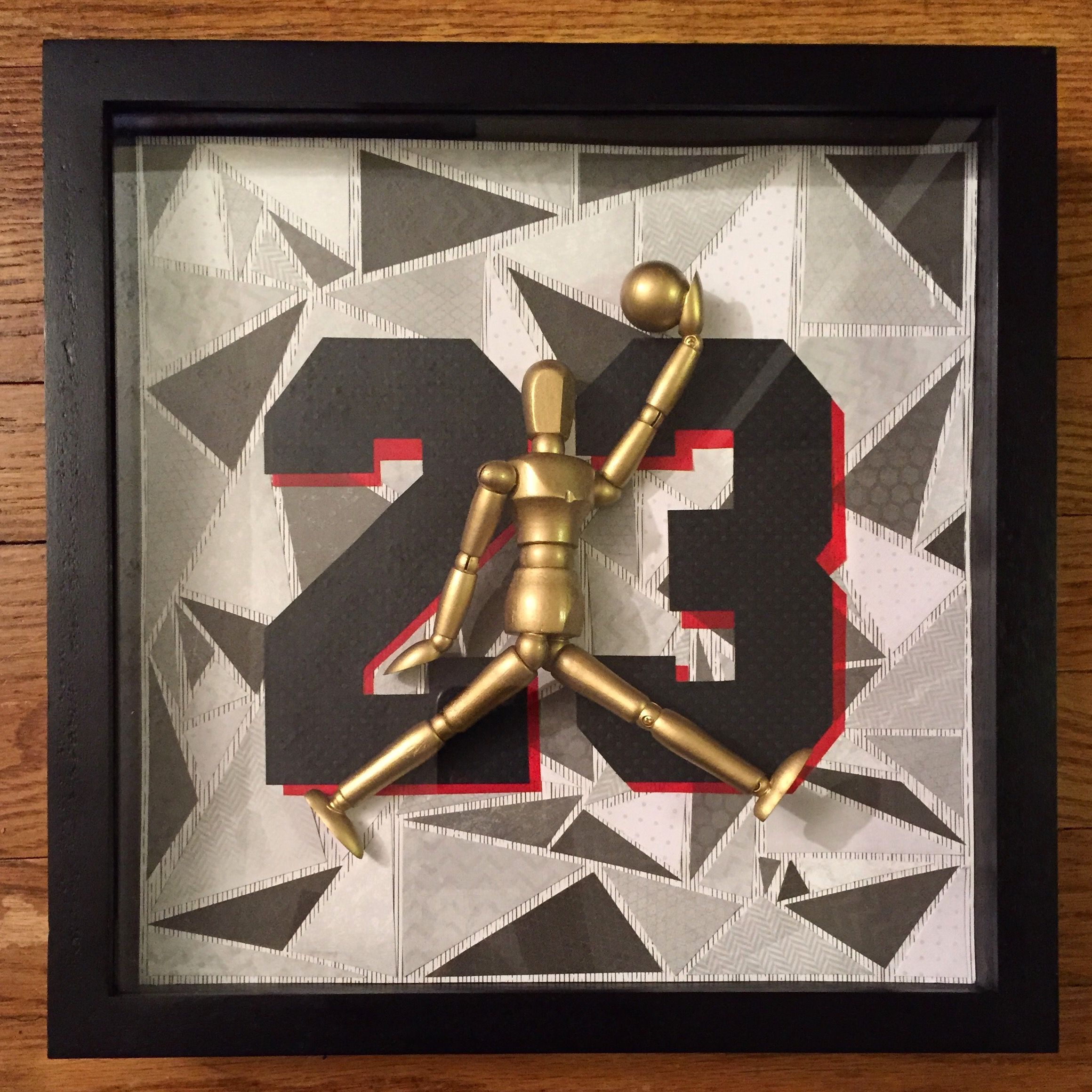 MJ III (12 x 12 shadow box frame) by J.Marie ($55.00) | Handmade ...