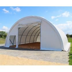 Photo of Round arch hall 9.15x20m PVC 720 g / m2 white waterproof Zelthalle, Industrial tent, Agrarzelt Toolport