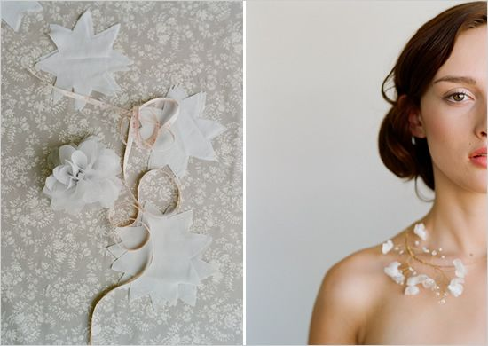 diy wedding necklace by @Twigs & Honey photographed by @Elizabeth Messina