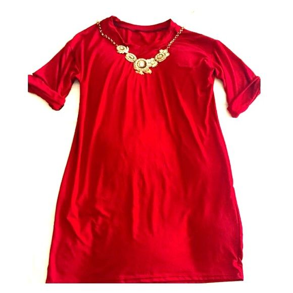 Red stretchy dress Red dress, very stretchy, one size fits most Dresses Mini