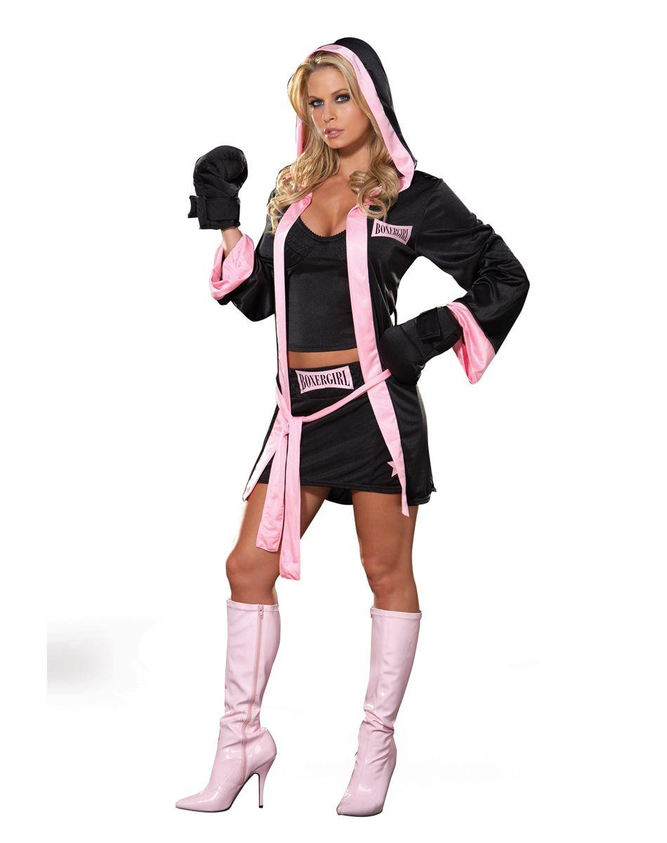 Boxer Girl Adult Womens Costume – Spirit Halloween | Themed Events ...