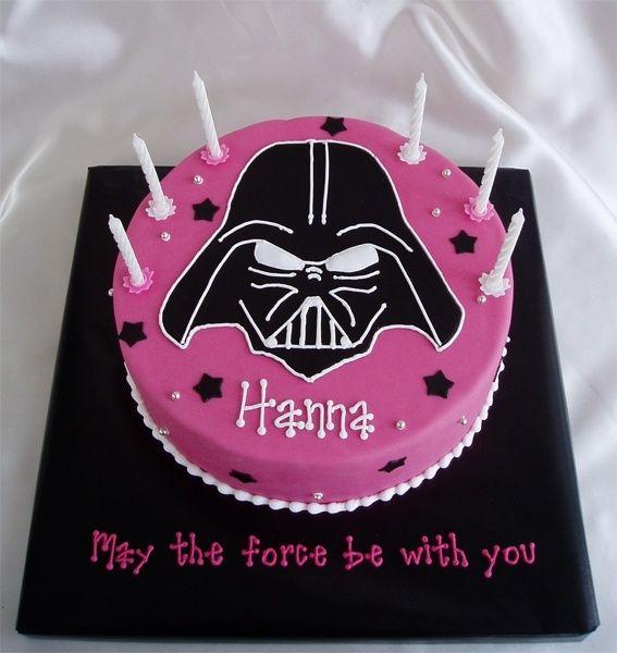 Darth Vader Birthday Party Ideas Darth Vader Cake Not Pink A