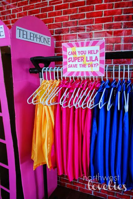 Darling capes for a girls Superhero party
