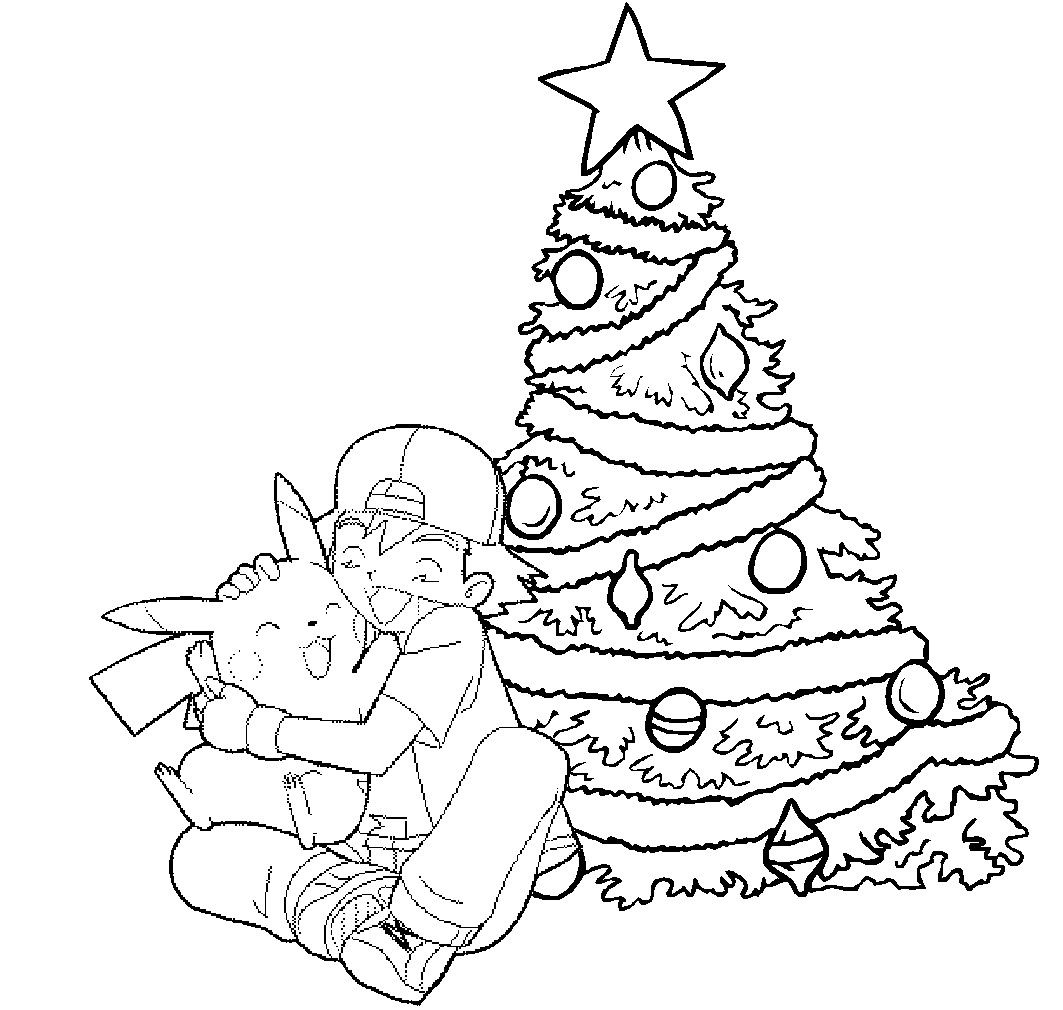 Charlie Brown Coloring Pages Lovely Pikachu And Ashley Christmas Coloring Picture Christmas Tree Coloring Page Christmas Coloring Pages Nativity Coloring Pages