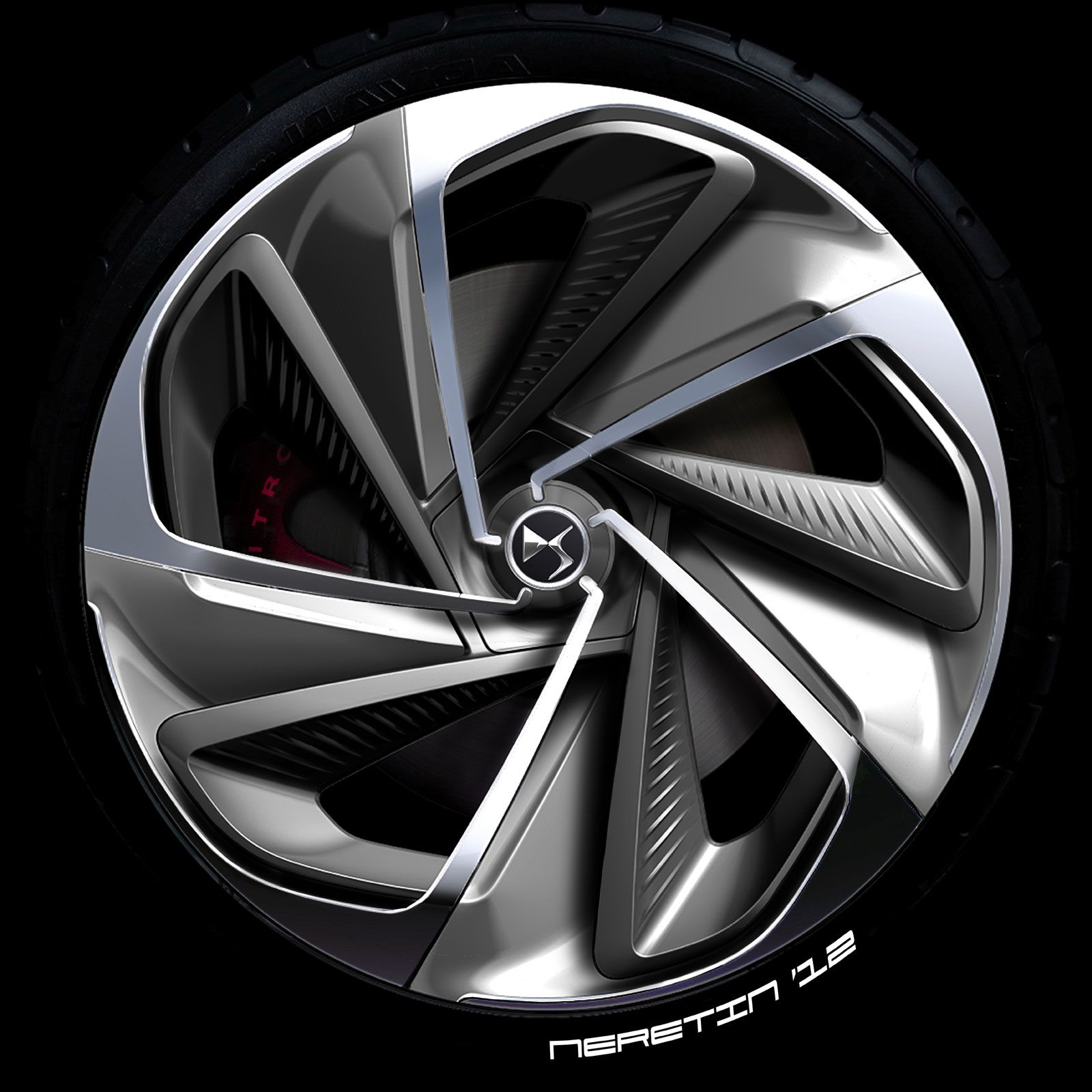 Citroen Numero 9 Concept Wheel Design Sketch | Car Design ...