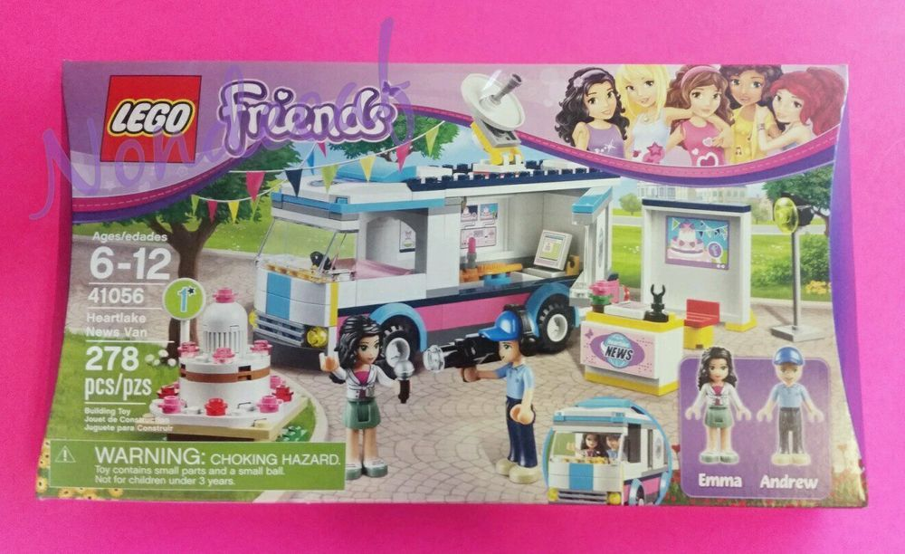 Lego Friends 41056 Heartlake News Van 278pcs New Sealed 2014