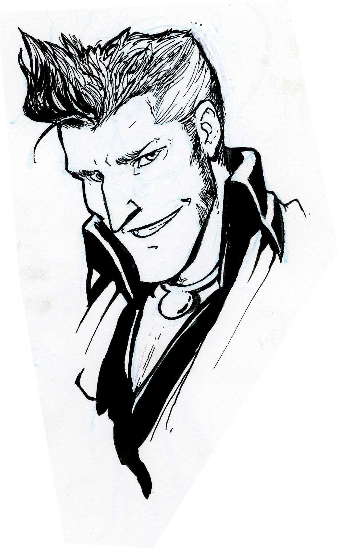 """tankens: """" inking warmup things, trying to draw the gt characters a bit more in my style since so far I've just been aping the in-game art. Jowd looks like Grissom from CSI. I don't know how to feel..."""