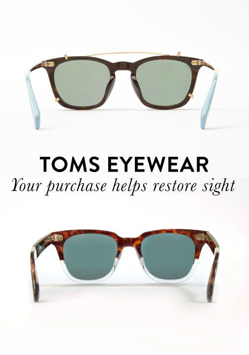 e87b2cc860 Your TOMS eyewear purchase helps restore sight for those in need ...