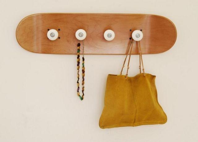Schon Skateboard Wand Garderobe Rollen Diy Idee