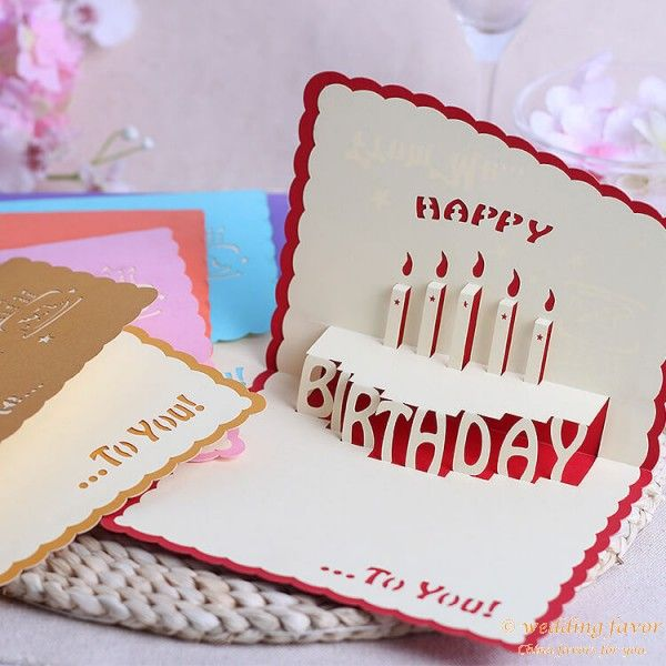 3d Pop Up Design Handmade Happy Birthday Greeting Card Happy Birthday Greeting Card Happy Birthday Cards Beautiful Birthday Cards