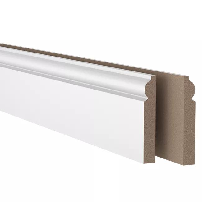 Listwa Mdf 18 X 119 X 2400 Mm Torus Biala Listwy Przypodlogowe Castorama Home Decor Decor Entryway Tables