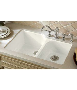 Kitchen Sinks Undermount Executive Chef Cast Iron Double