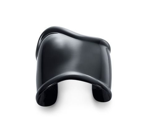 Tiffany & Co. | Item | Elsa Peretti® black Bone cuff, medium, left wrist. | United States