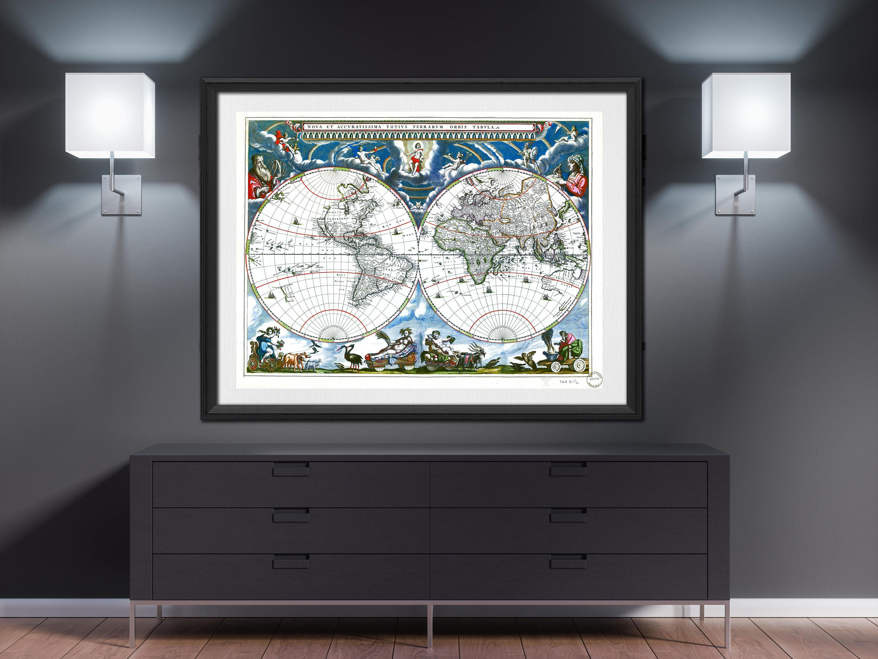 World map print 1760 world map poster world map wall art large world world map print 1760 world map poster world map wall art large world map vintage world map world map room decor push pin worldmap mappemonde gumiabroncs Images