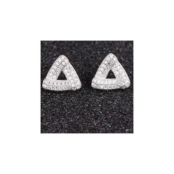 Rhinestone Triangle Studs ($15) ❤ liked on Polyvore