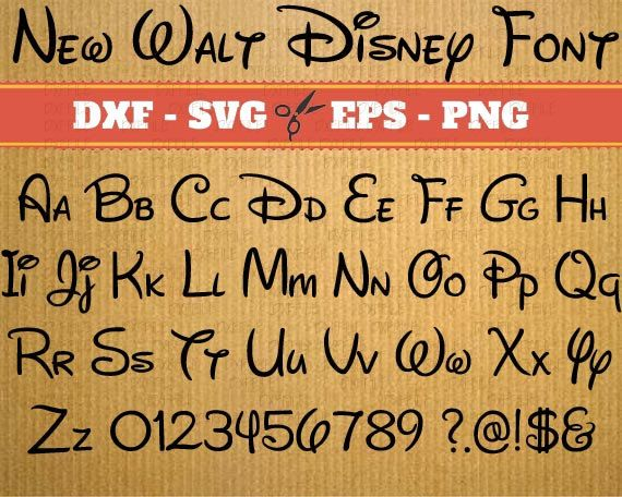 lettre walt disney Walt Disney Font svg files download; Svg, Dxf, Eps, Png; Alphabet  lettre walt disney