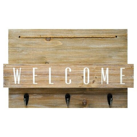 Welcome Mail Station With Hooks Gray Threshold Mail Station Mail Holder Wall Decor